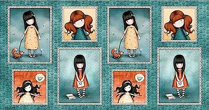 Textil - Panel látka - Holčičky Gorjuss - HEARTFELT - 6937501_
