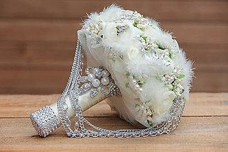 Kytice pre nevestu - Luxusná svadobná kytica - 6937574_