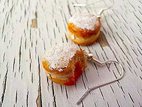 Náušnice - šiška s jahodou marmeládou - 6938843_