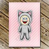 Papiernictvo - Zápisník zvierací kostým (pruhovaný) mačička - 6937145_