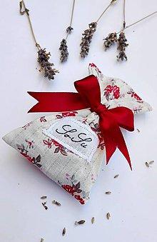 Úžitkový textil - Levanduľové vrecúško - 6940328_