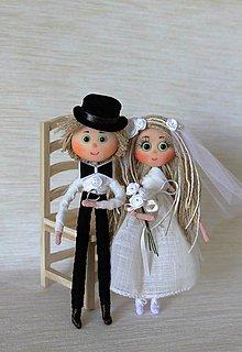 Bábiky - Nevestička Markétka a ženích Peťo - 6940105_