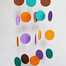 Dekorácie - Girlanda Punkt Ø 5 cm - 6940506_