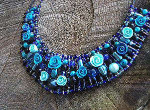 Náhrdelníky - Mohutný náhrdelník Búrka - 6940860_