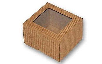 Obalový materiál - 200277 DARČEKOVÁ ŠKATUĹKA S OKIENKOM 9,0X9,0X6,5 cm - 6941020_