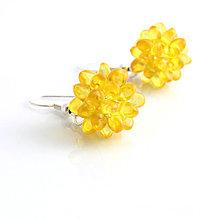 Náušnice - Bublinky žlté - slniečkové - 6940234_