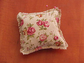 Prstene - Vintage vankúšik s ružičkami - 6940284_