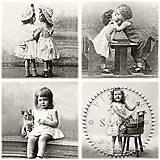 """Papier - Servítka """"Vintage 4x detičky"""" 80074 - 6941378_"""