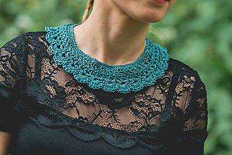Náhrdelníky - Smaragdový golierik - 6943521_