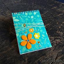 Papiernictvo - Špirálový bloček A7 - listy - 6942531_
