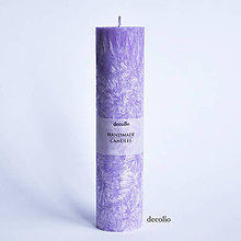 Svietidlá a sviečky - Fialová sviečka Ø45 - 6943084_