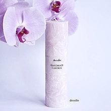 Svietidlá a sviečky - Ružová sviečka Ø45 - 6944518_