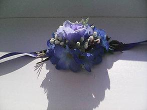 """Náramky - Kvetinový náramok """"Zrkadlí sa modré nebo nad nami..."""" - 6943109_"""