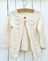 - Detský pletený svetrík - 6942803_