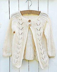 Detské oblečenie - Detský pletený svetrík - 6942803_