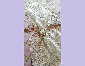 Bielizeň/Plavky - Jednoduchý svadobný podväzok - 6943731_