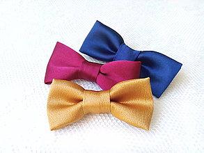 Ozdoby do vlasov - Hair clips (dark blue/bordeaux/copper) - 6946794_