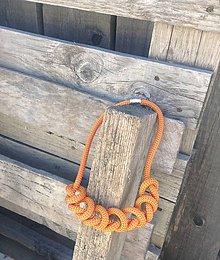 Náhrdelníky - Náhrdelník lano Orange - 6945826_