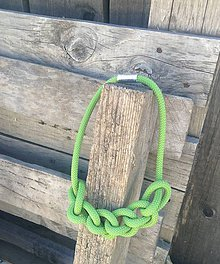 Náhrdelníky - Náhrdelník zelené lano - 6945836_