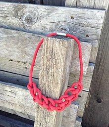 Náhrdelníky - Náhrdelník červené lano - 6945874_