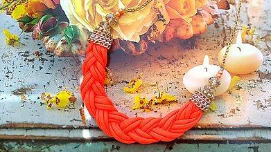 Náhrdelníky - vrkočový náhrdelník - 6945743_