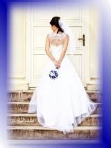 Svadobná kytica pre nevestu - zafírovomodrá