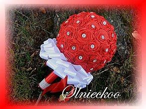 Kytice pre nevestu - Kytica pre nevestu - červené ružičky - 6944799_
