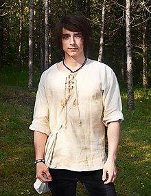 Oblečenie - Ľanová košeľa - 6945949_