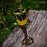 Piknik v lese - pohár na šampanské