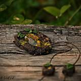 Náhrdelníky - Levanduľový les - náhrdelník s kvetmi - 6946532_