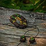 Náhrdelníky - Levanduľový les - náhrdelník s kvetmi - 6946533_