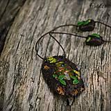 Náhrdelníky - Levanduľový les - náhrdelník s kvetmi - 6946534_