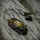 Náhrdelníky - Levanduľový les - náhrdelník s kvetmi - 6946537_