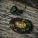 Náhrdelníky - Levanduľový les - náhrdelník s kvetmi - 6946538_