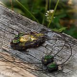 Náhrdelníky - Levanduľový les - náhrdelník s kvetmi - 6946540_