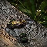 Náhrdelníky - Levanduľový les - náhrdelník s kvetmi - 6946541_