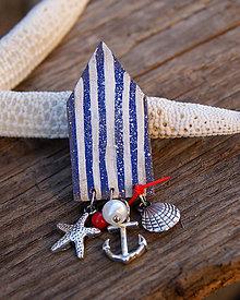 Odznaky/Brošne - Plážový domček s plodmi mora - 6947061_