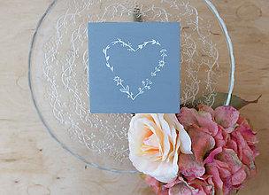 Prstene - Svadobná krabička srdiečková - 6946326_