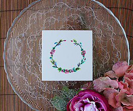 Prstene - Svadobná krabička flora - 6946339_
