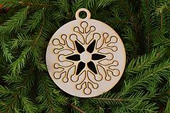 Dekorácie - Drevené vianočne ozdoby 2v1  50 - 6946248_