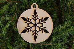 Dekorácie - Drevené vianočné ozdoby 2v1 z dreva 49 - 6946285_