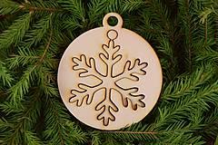 Dekorácie - Drevené vianočne ozdoby 2v1 z dreva 48 - 6946299_