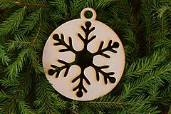 Dekorácie - Drevené vianočné ozdoby 2v1 z dreva 48 - 6946301_