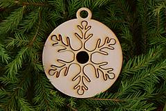 Dekorácie - Drevené vianočné ozdoby 2v1 z dreva 48 - 6946322_
