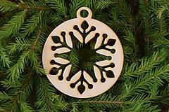 Dekorácie - Drevené vianočne ozdoby 2v1 z dreva 47 - 6946367_