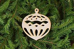 Dekorácie - Drevené vianočne ozdoby z dreva 45 - 6946377_