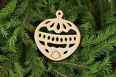 Dekorácie - Drevené vianočne ozdoby z dreva 44 - 6946378_