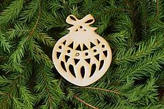 Dekorácie - Drevené vianočne ozdoby z dreva 43 - 6946389_
