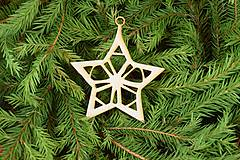 Dekorácie - Drevené vianočne ozdoby z dreva 41 - 6946394_