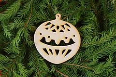 Dekorácie - Drevené vianočne ozdoby z dreva 42 - 6946400_